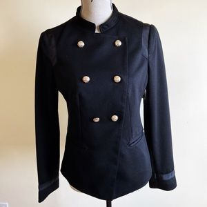 Limited Gold Button Detail Military Blazer Jacket